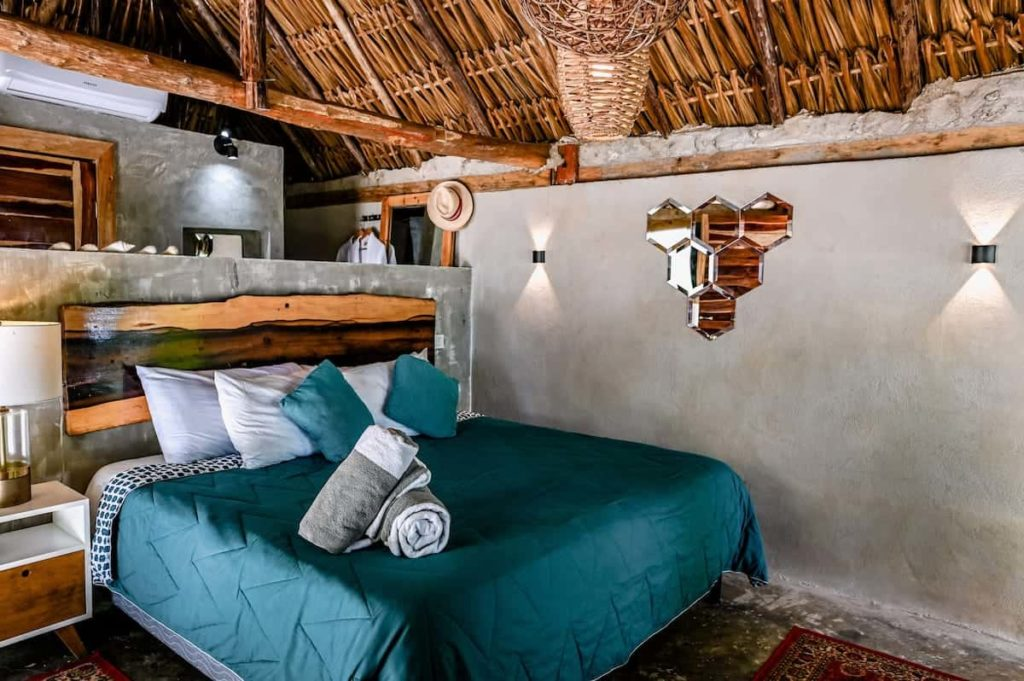 beach cabañas bed
