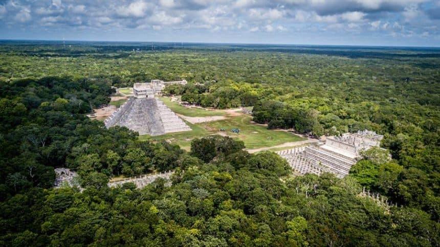 Calakmul aerial view