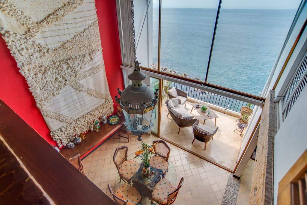 casa vista al mar