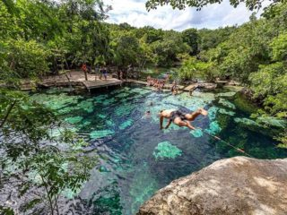 Mexico travel tips - cenote azul riviera maya mexico