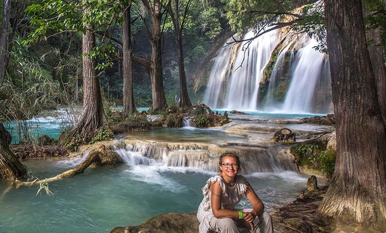 waterfall chiflonI chiapas self potrait
