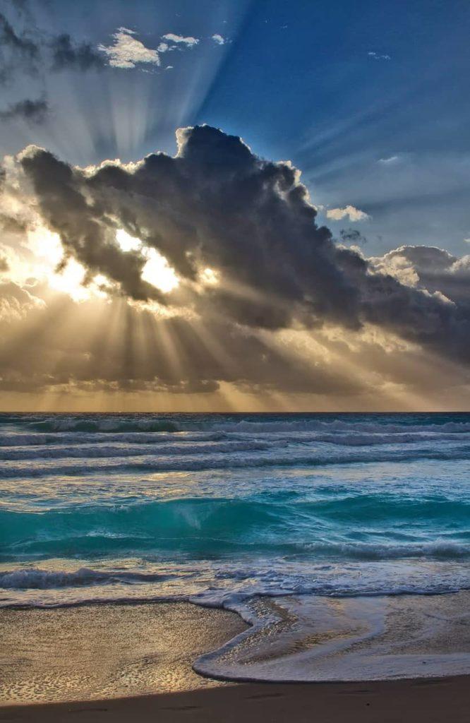 landscape, sun, beach
