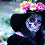 day of the dead, colorful, make up