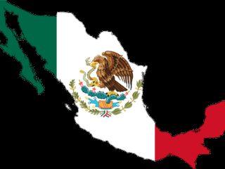 mexico, flag, map