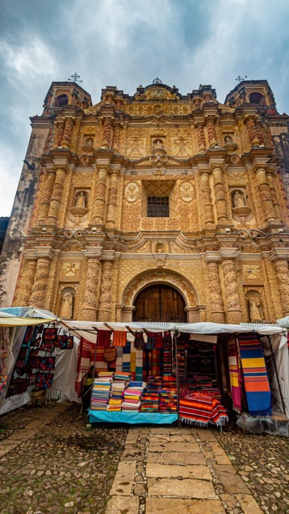 san cristobal de las casas church and market