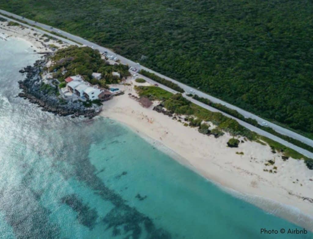 Cozumel airbnb hotel aerial