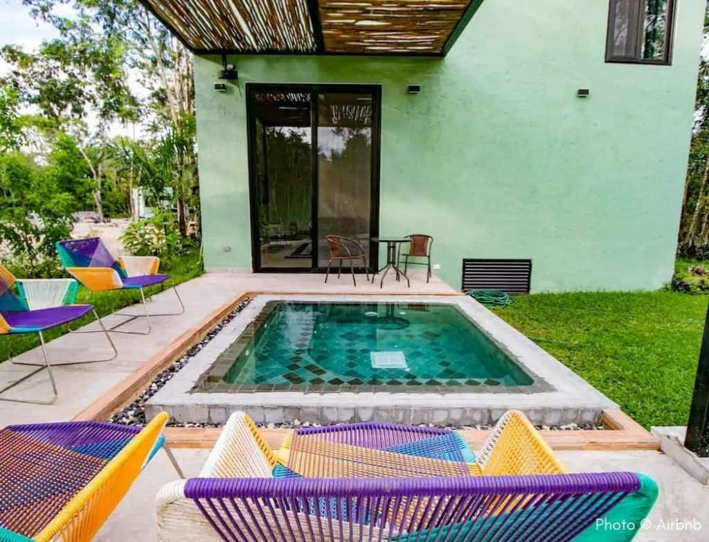 Villa Violeta cozumel airbnb pool