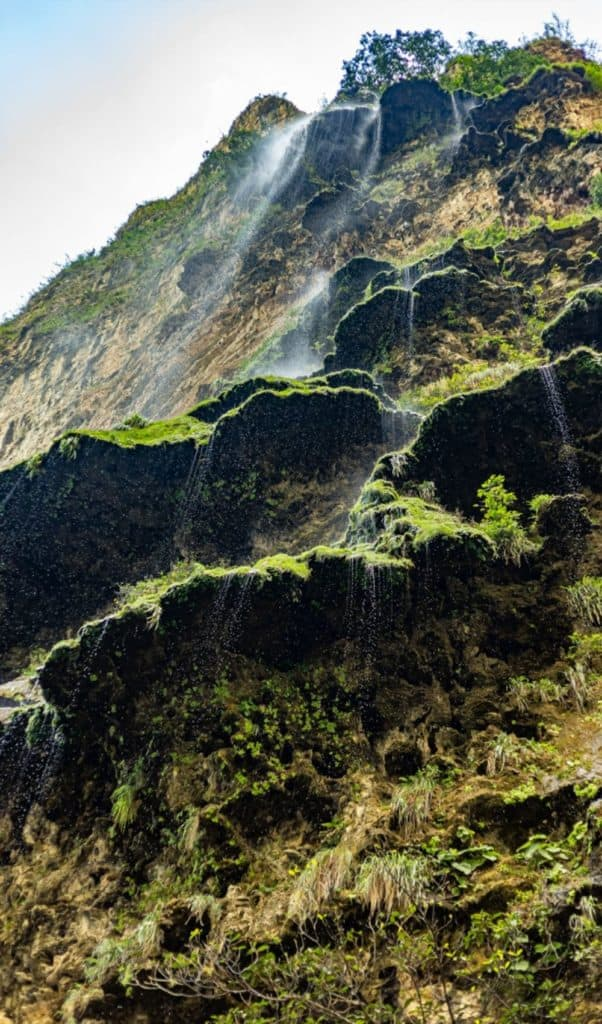 Falls from the wall of the Sumidero Canyon