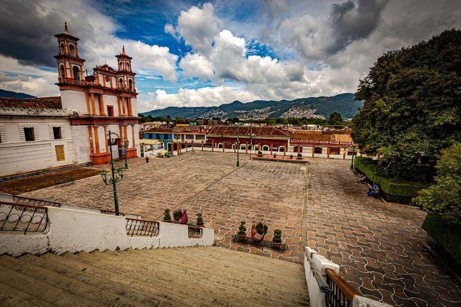 Plaza in front of a church - La Merced in San Cristobal
