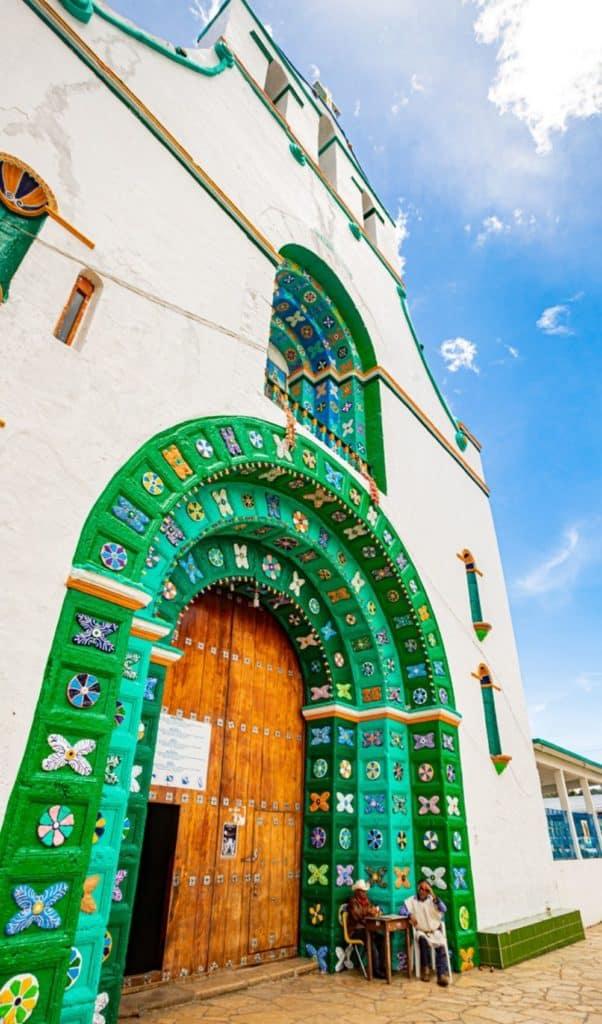 San Juan Chamula Church - door details decorations