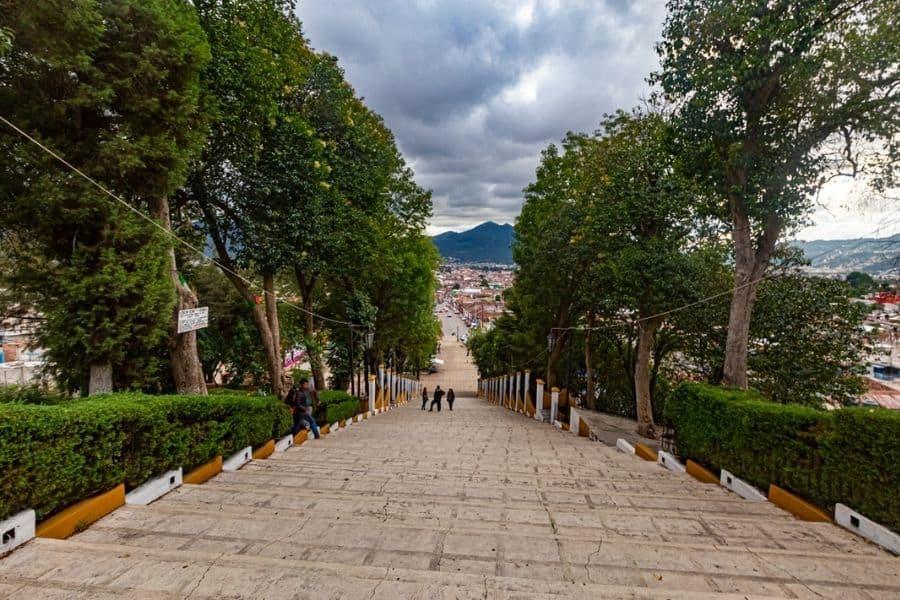 View from a church to the city San Cristobal de las Casas Mexico