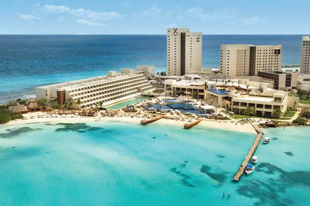 Hotel Ziva in Cancun Aerial View