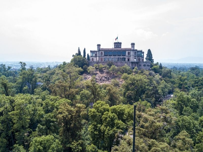 Chapultepec castle overview