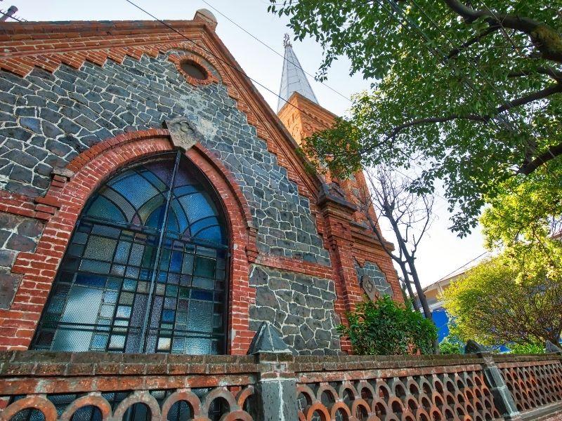 Old church facade