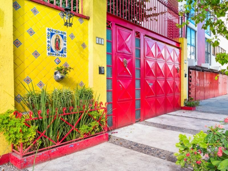 colorful home external walls