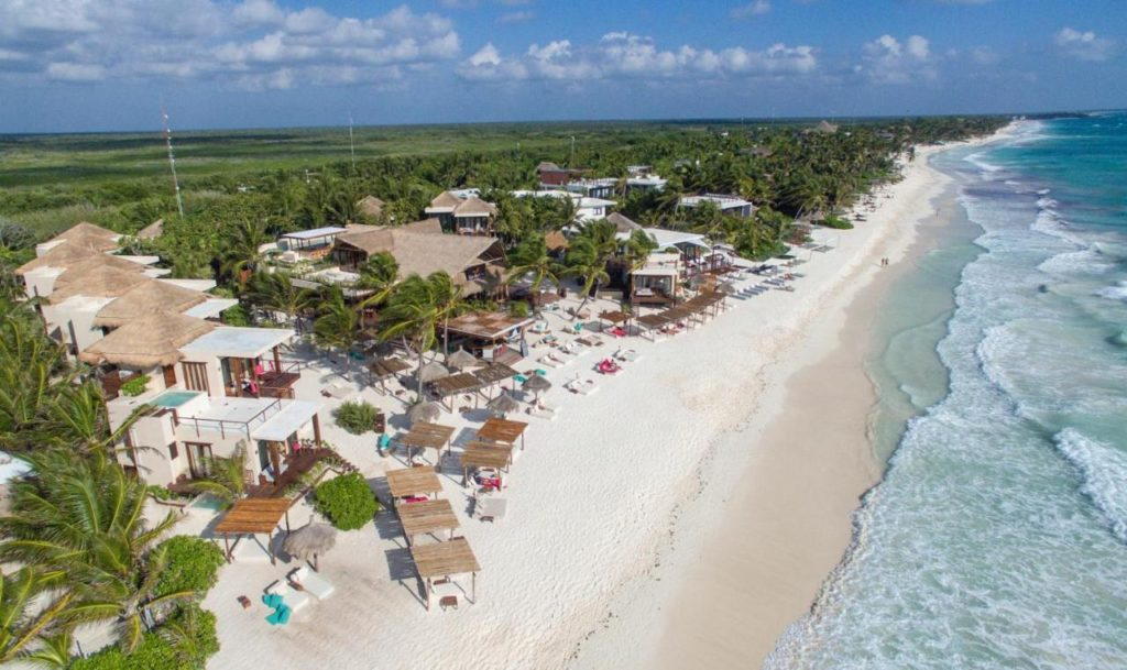 La Zebra - hotel - aerial view of the beach