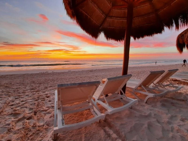 ana y jose beach at sunrise