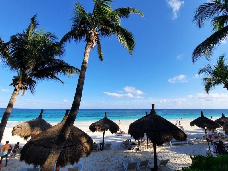 Ana y jose hotel beach chairs and palapas