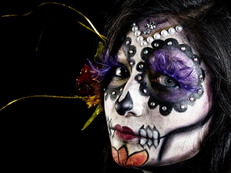 day of the dead celebration make up