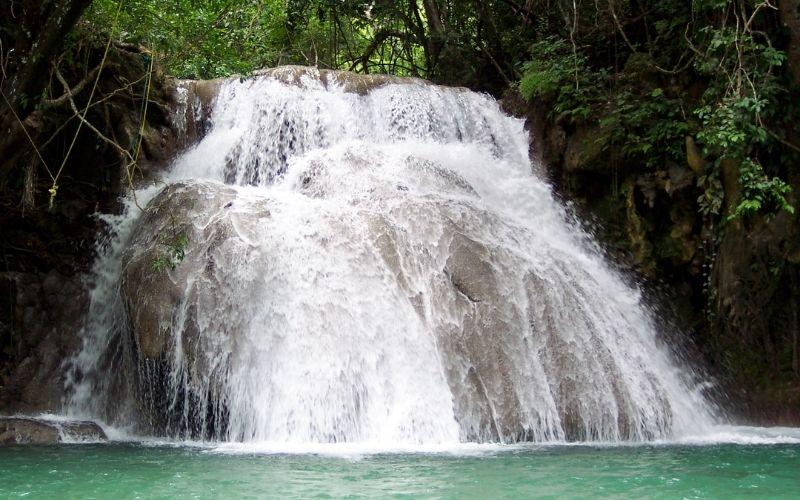 waterfall in Huatulco Mexico