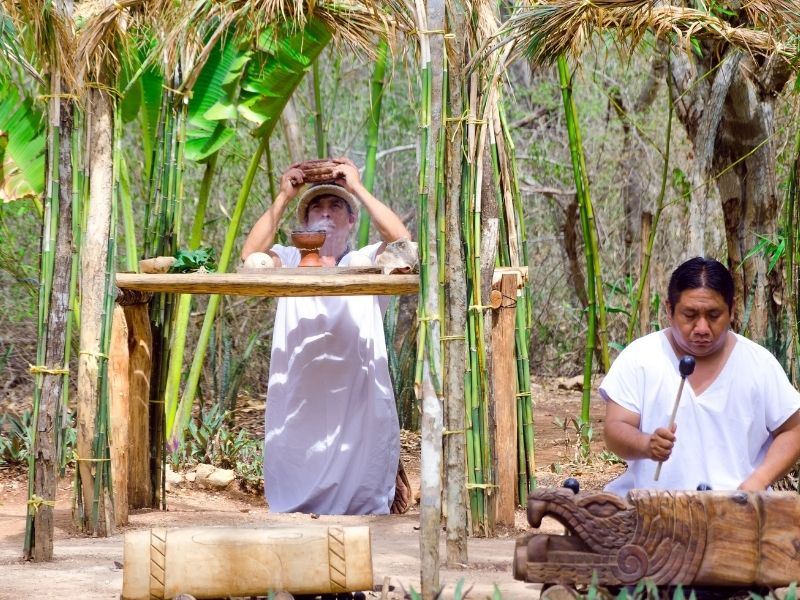 mayan ceremony in the jungle