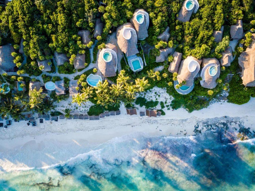 papaya playa project aerial view