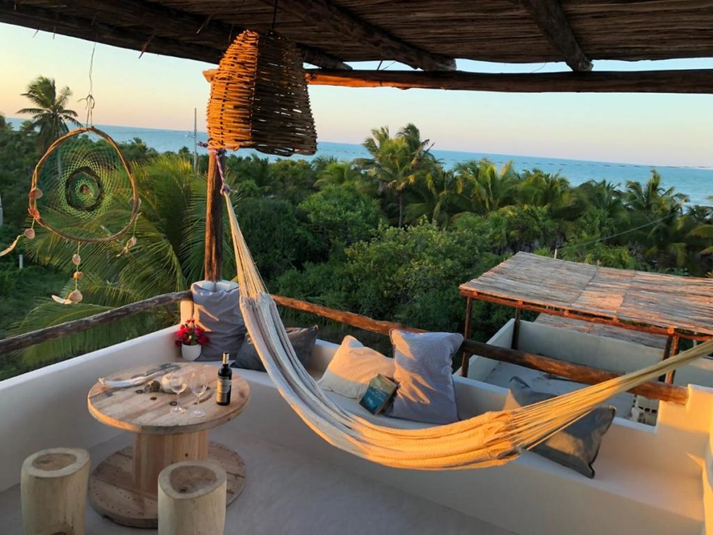 Lunarena hotel hammock on the balcony