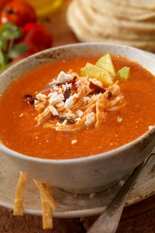 Lime soup mexican dish