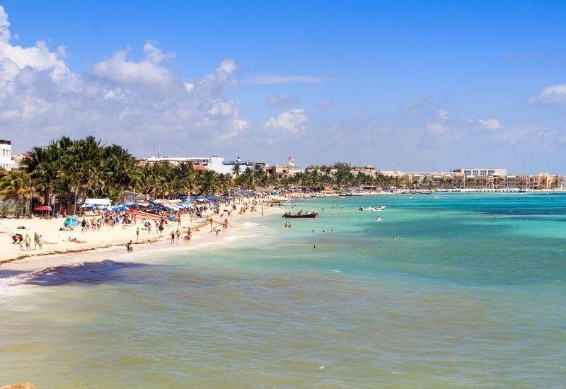 Playa del Carmen beach crowd