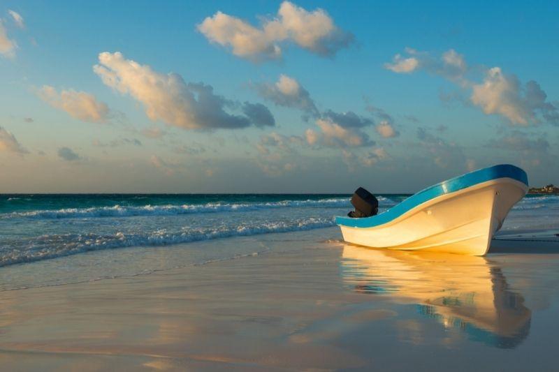 Tulum beach boat