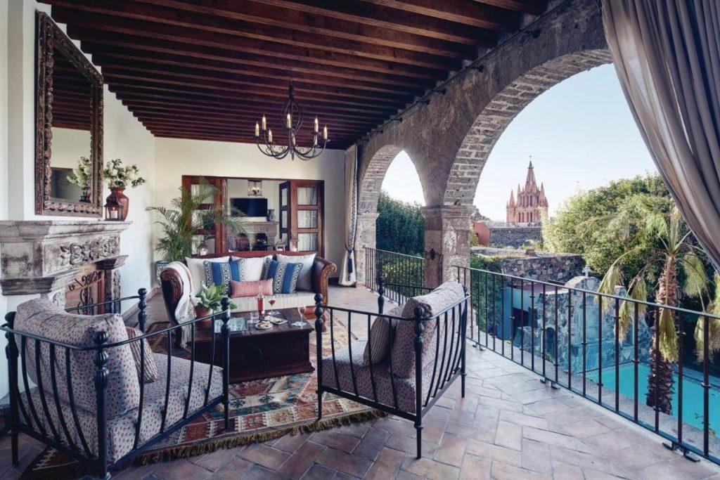 Belmond hotel in San Miguel de Allende terrace