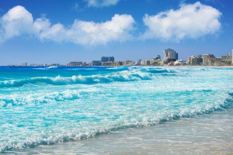 Cancun beach sea