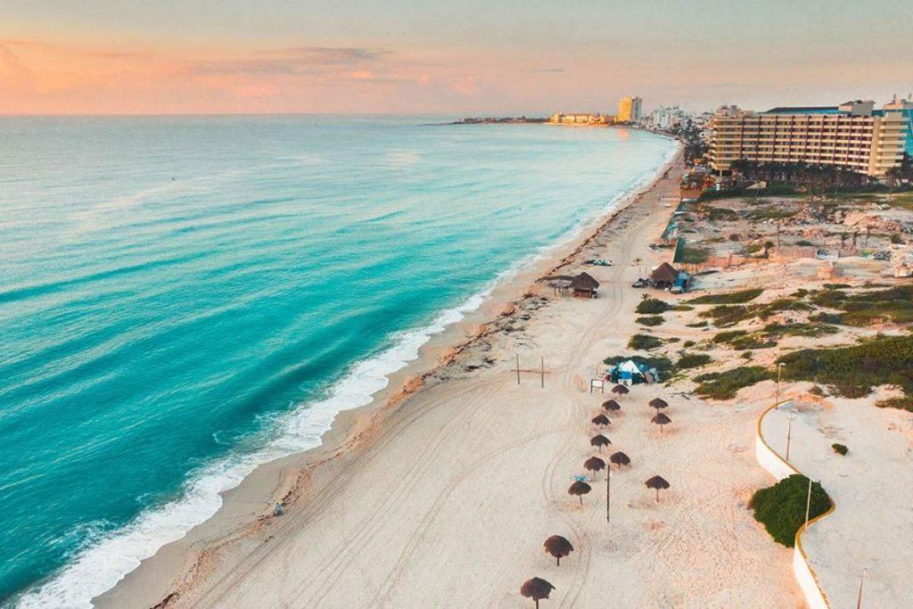 Cancun beach sunset