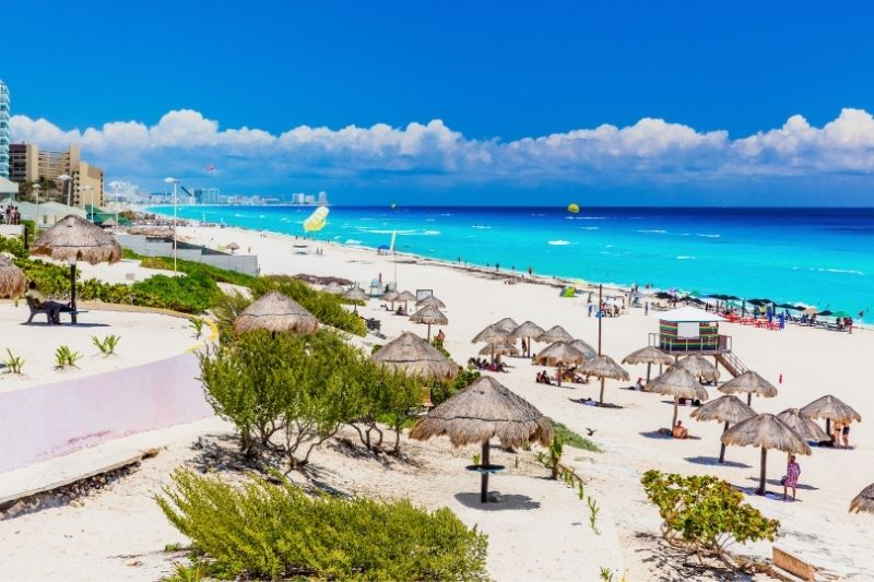 Cancun dolphin beach