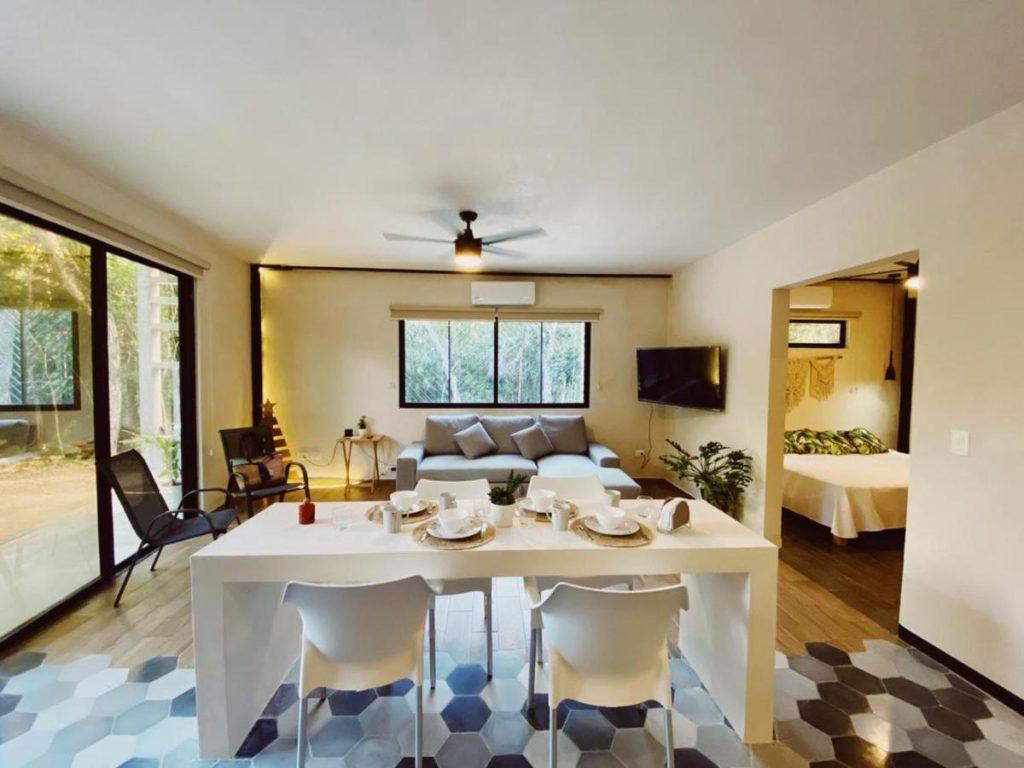 halaken living room Tulum airbnb