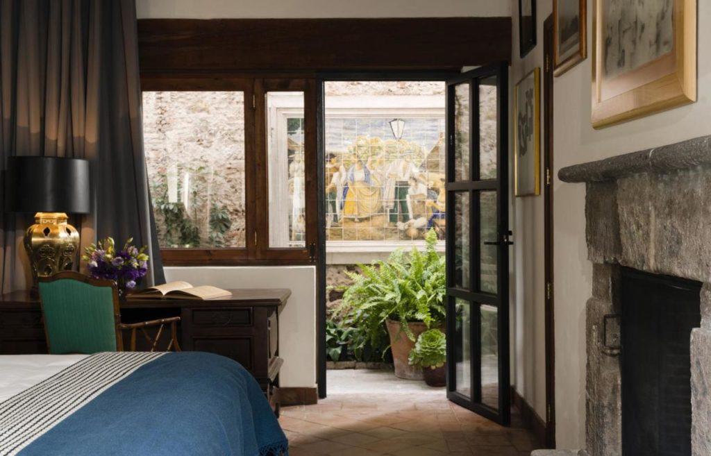Hotel Amparo pation door of a Room in San Miguel de allende