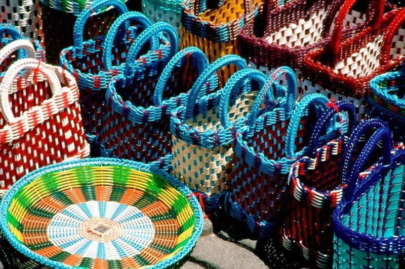 Oaxaca handmade woven baskets